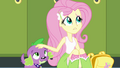 Fluttershy petting Spike's head EG.png
