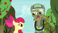 "Pest pony ""Anypony with a trombone can get rid of parasprites"" S5E04"