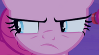 Pinkie Pie with narrowed eyes S4E07