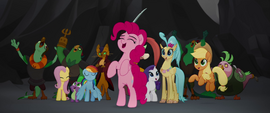 Ponies and pirates cheering MLPTM