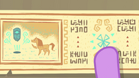 Princess Twilight pointing at ancient drawings EGFF