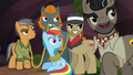 Rainbow, Quibble, and Caballeron looking behind S6E13.png