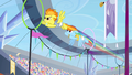 Rainbow and Spitfire flying through rings S4E24.png