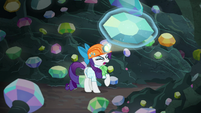 Rarity pulls large gem out of the ground S9E19