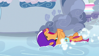 Scootaloo still sliding on the clouds S7E7