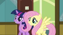 Twilight and Fluttershy come to visit S02E16