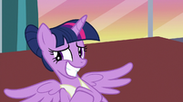 Twilight looks away and grins embarrassed S7E10