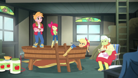 Applejack lying in the applesauce EGROF