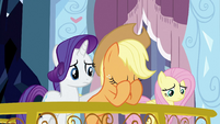 Applejack with head in her hooves S3E2