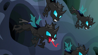 Changelings popping out of burrows S6E26