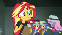Crusaders running past Sunset Shimmer CYOE7