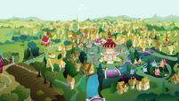 Distance view of Ponyville EGSB