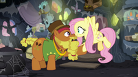 "Fluttershy ""you're related to Mage Meadowbrook?"" S7E20"