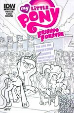 Friends Forever issue 7 cover RE BronyCon verB