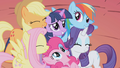 Mane 6 group hug S1E03.png