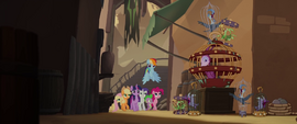 Mane Six and Spike entering Klugetown MLPTM