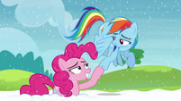Pinkie and Rainbow hoof-bump S5E11