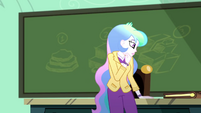 Principal Celestia thinking for a moment SS8
