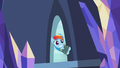 Rainbow Dash enters the castle with a wide grin S6E24.png