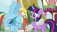 Rainbow Dash groaning at Twilight S8E20
