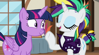 Rarity about to explain to Twilight Sparkle S7E19