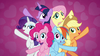 S07E02 Mane 6 podczas piosenki Best Friends Until the End of Time