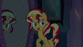 Sunset Shimmer about to step through the mirror EG.png