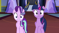 Twilight and Starlight looking very shocked S7E14