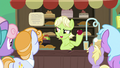 Young Granny Smith selling apples S7E13.png
