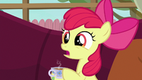 Apple Bloom ask Petunia's parents what's wrong S6E19