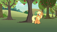 Applejack -as useful as a burned knot on a zapplin' tree- S7E9