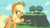 Applejack suggests building a bridge S8E9