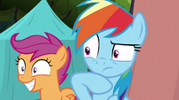 Dash and Scootaloo behold the Washouts leader S8E20