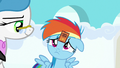 Filly Rainbow Dash wearing a participation sticker S7E7.png