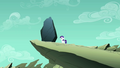 Filly Rarity looking up at the rock S1E23.png