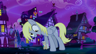 Giant Derpy meowing at Mayor Mare S5E13