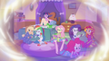 Memory of Mane Seven at Pinkie's sleepover EGFF.png