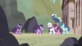 Our Town ponies smile at Starlight S5E26.png