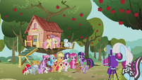 Photo Finish taking the ponies' picture S5E18