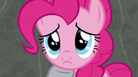Pinkie Pie looking remorseful at Maud S7E4