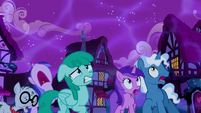 Ponies frightened by the Tantabus S5E13