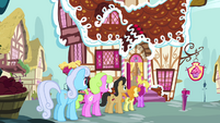 Ponies standing behind Fluttershy S02E19