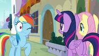 Rainbow Dash flinches from door slam S9E24