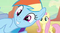 Rainbow Dash overly happy S2E14