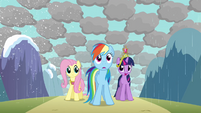 Rainbow Dash shocked by messy weather S03E13