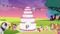 Rainbow dash en su fiesta