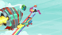 Rainbow grabs Scootaloo off the scooter S8E20