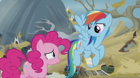 Rainbow looks at Pinkie like she's weird S5E8