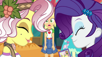 Rarity and Vignette smiling together EGROF