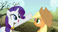 Rarity singing at dilapidated Sweet Apple Acres S03E13